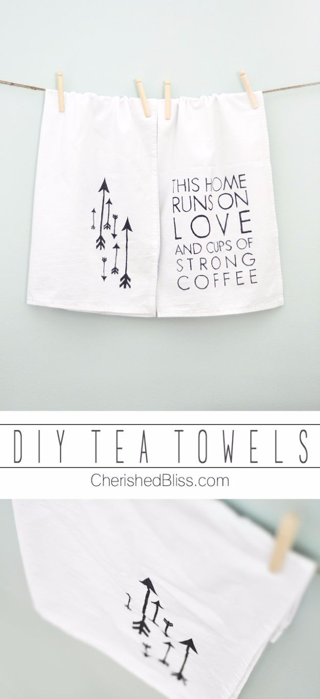 50 Cheap DIY Gifts That Only Look Expensive | Diy tea towels ...