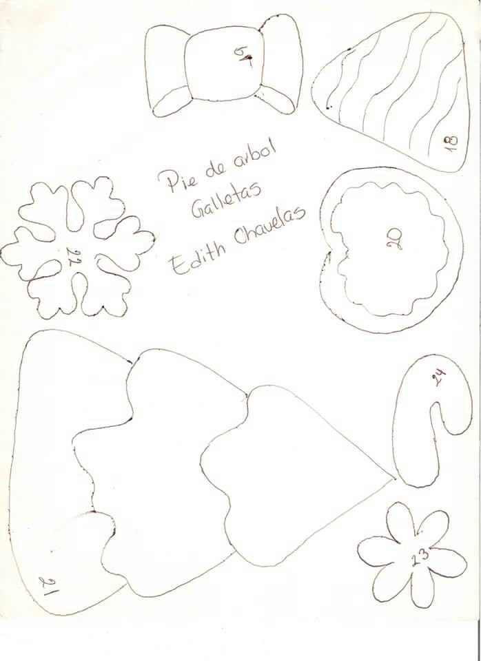 Pie de arbol galletas | NAVIDAD | Pinterest | Pie de árbol, Pies de ...