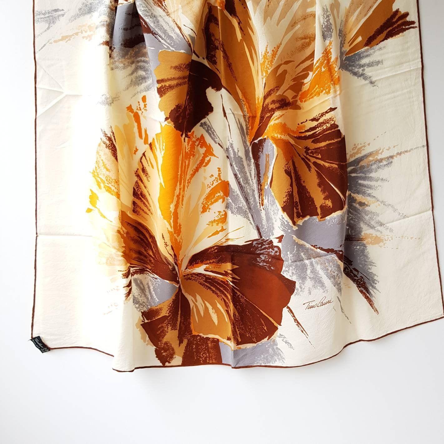 Elegant Scarves For Women Large Square Silk Scarves Ladies Neck Scarf Luxury Vintage Silk Bandana For Hair Burnt Orange Styles 35 X 35 Elegant Scarves Square Silk Scarf Womens Neck Scarf