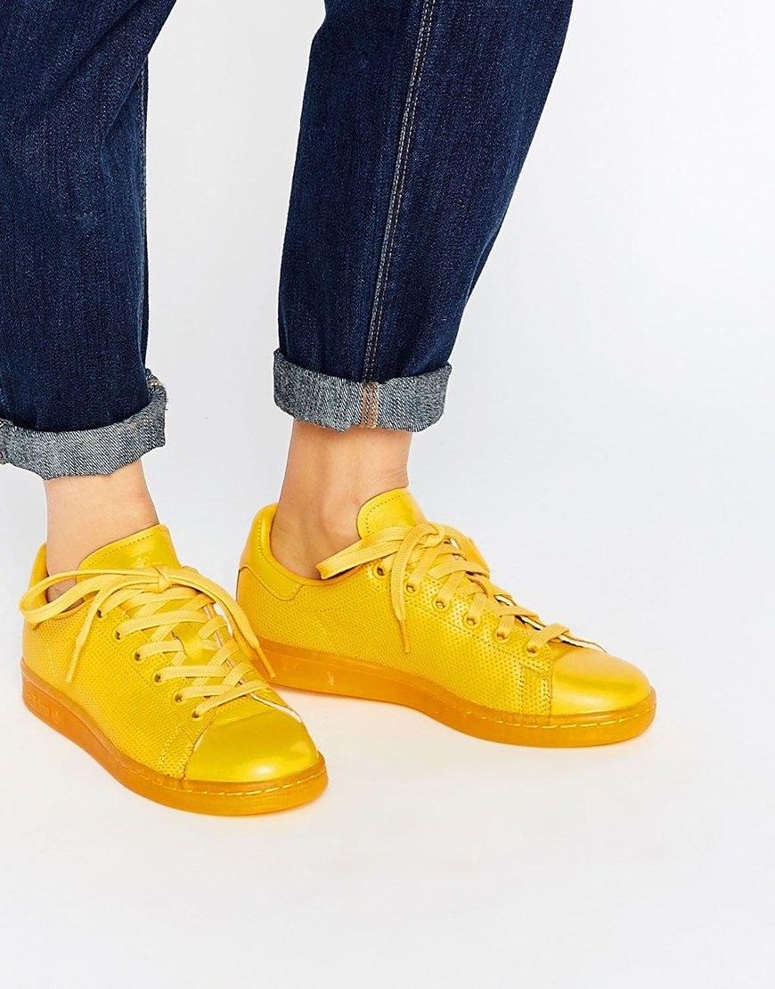 6ba77ed2be8db9 adidas Originals Court Vantage Super Color Yellow Sneakers ...