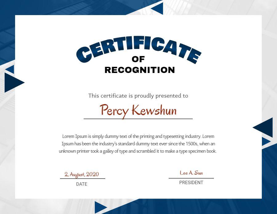 Custom Diploma Certificate Template Design Blue Graduation