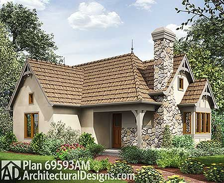 2 Bed Tiny Cottage House Plan 69593am Cottage European Narrow