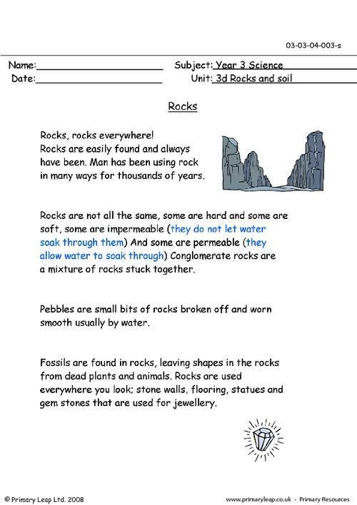 3 Types Of Rocks Printable Worksheets Pdf