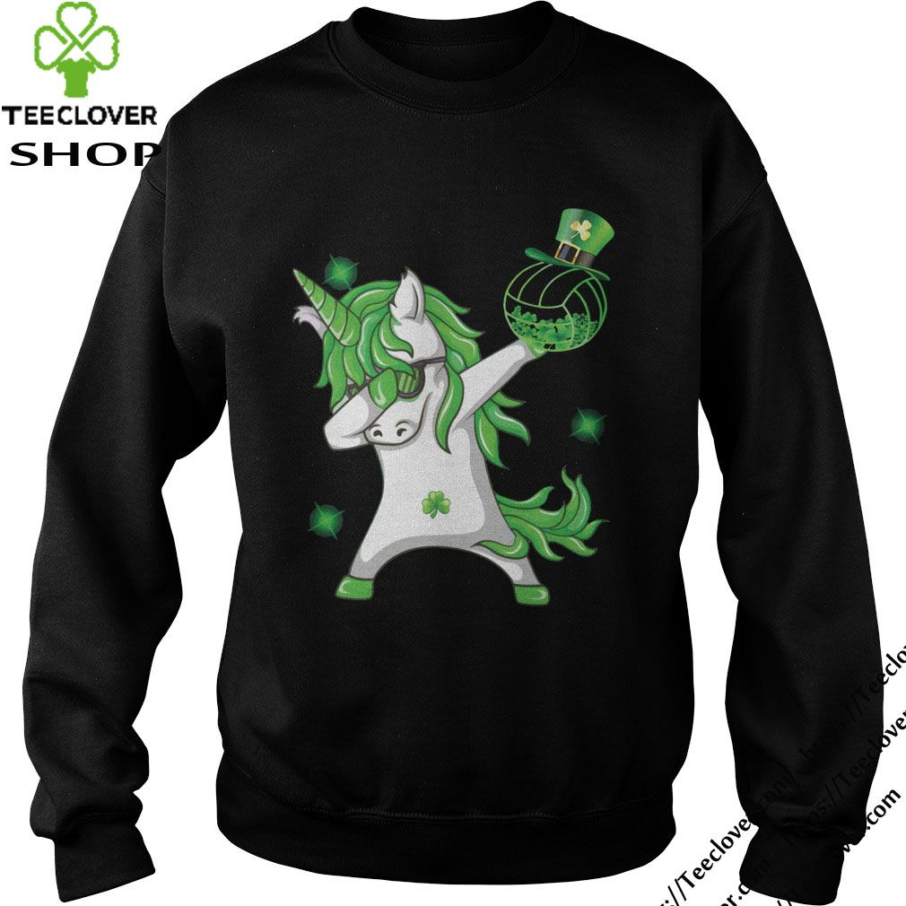 Happy St Patrick S Day Dabbing Unicorn Volleyball Shamrock T Shirt Happy St Patricks Day St Patricks Day St Patrick