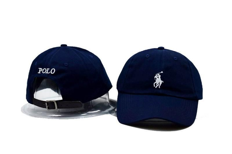 Mens / Womens Unisex Polo Ralph Lauren Small Pony Embroidery Leather Strap  Back Baseball Adjustable Hat