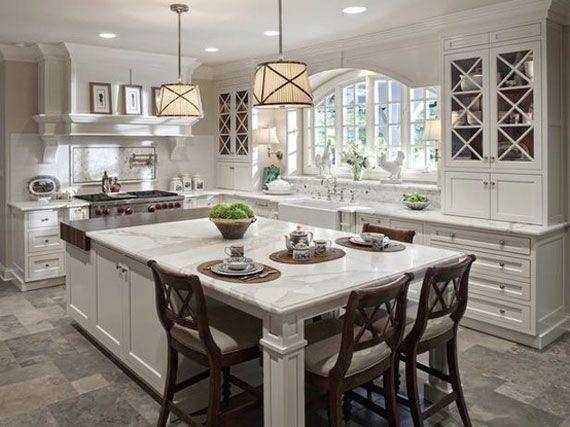Kitchen-design  Grey White Coastal Kitchen Impressive Interior