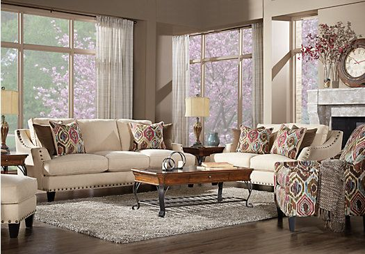 Cindy Crawford Home Nolita Taupe 7 Pc Living Room $2 299 99 Find
