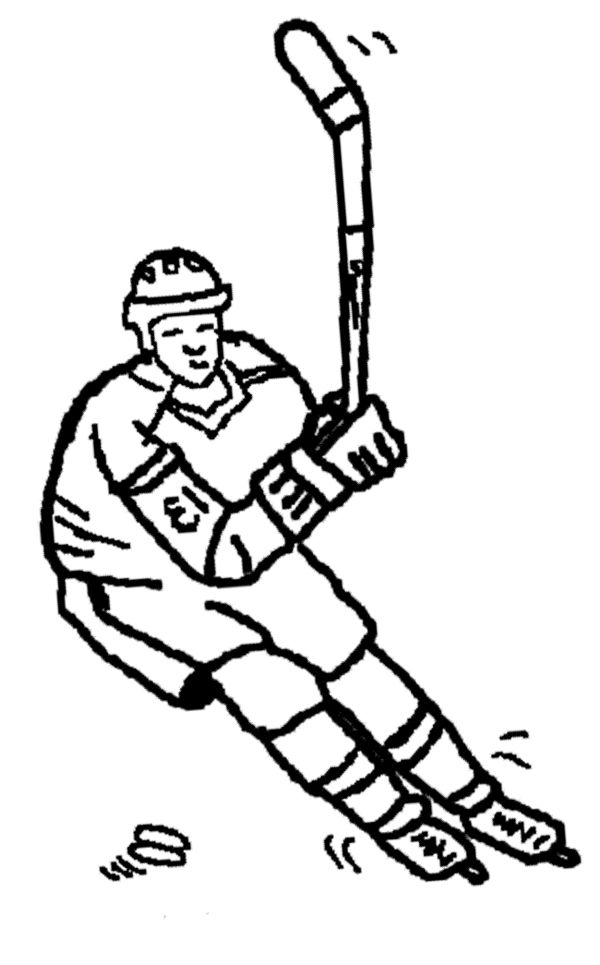 Ice Hockey Coloring Page | Ice Hockey by Louise McCann | Pinterest