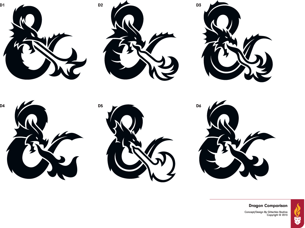 Brand New New Logo For Dungeons Dragons By Glitschka Studios Dungeons And Dragons Dragon Silhouette Baby Dragon Tattoos