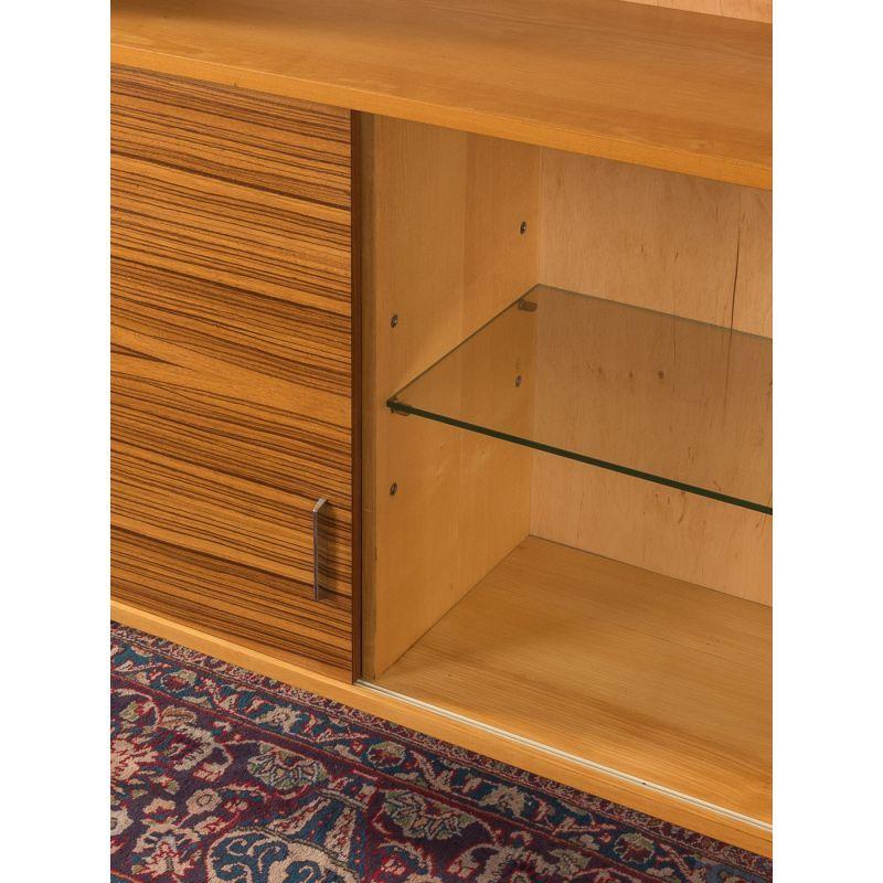 Vintage chest of drawers in zebrano veneer with sliding doors …