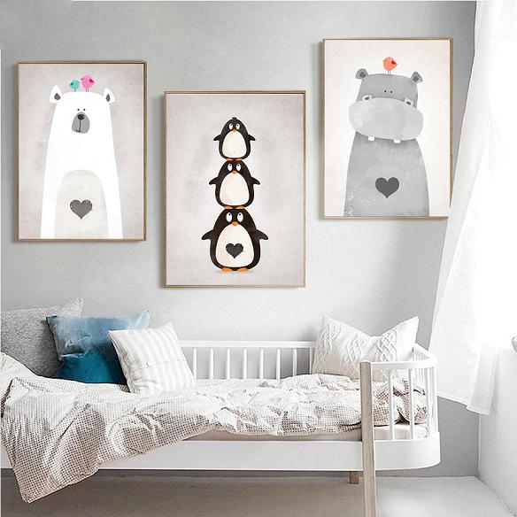 Drucke & Plakate A3 Drei Poster Kinderzimmer, Bild