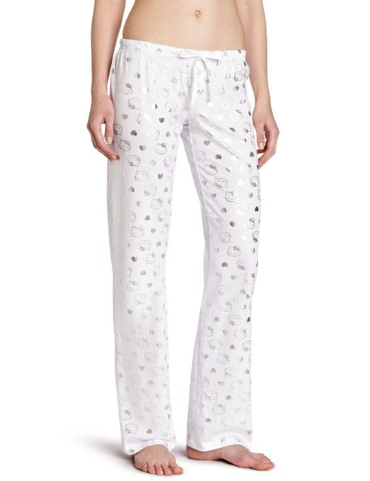 faab9c236 Amazon.com: Hello Kitty Womens Elastic Foil Print Pant: Clothing ...