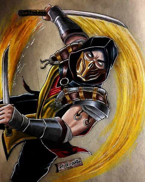 Mortal Kombat 11 Scorpion By Art Of Ashton In 2020 Mortal