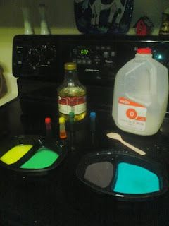 Milk paint Recipe for Toast- just milk and food coloring, syrup if you want, paint bread and toast!