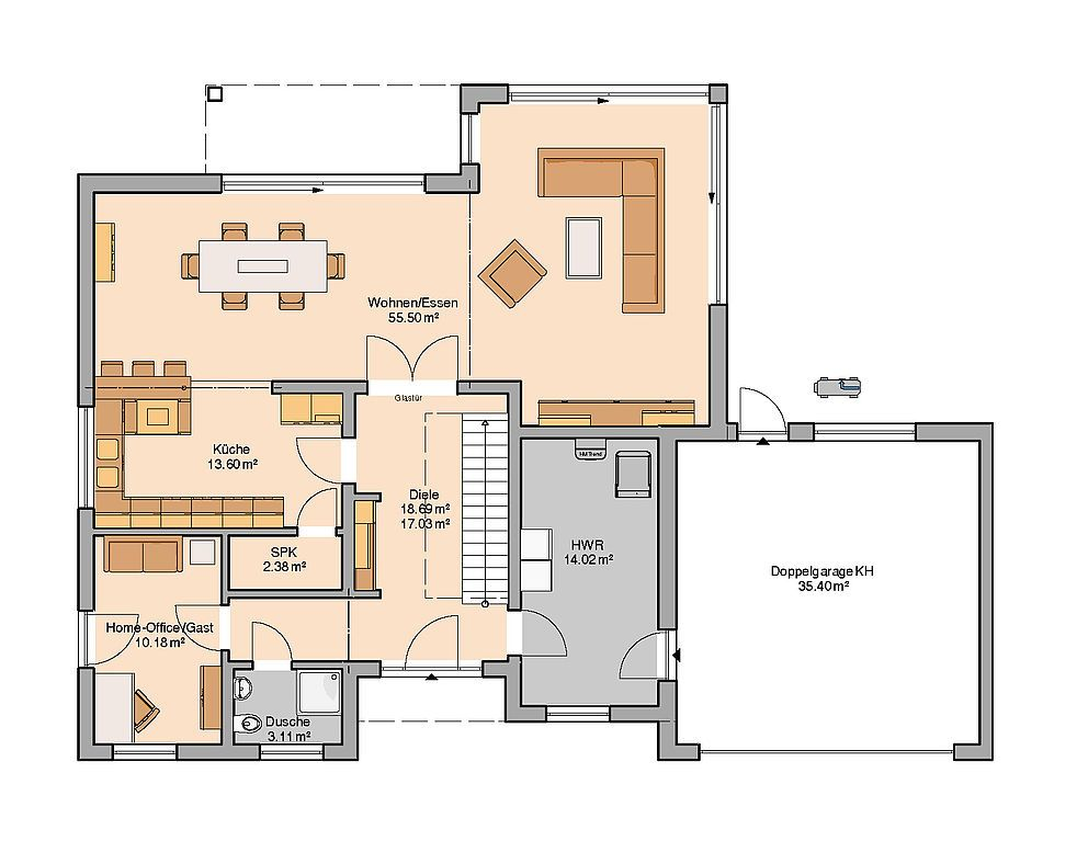 Bauhaus Anteo von Kern Haus