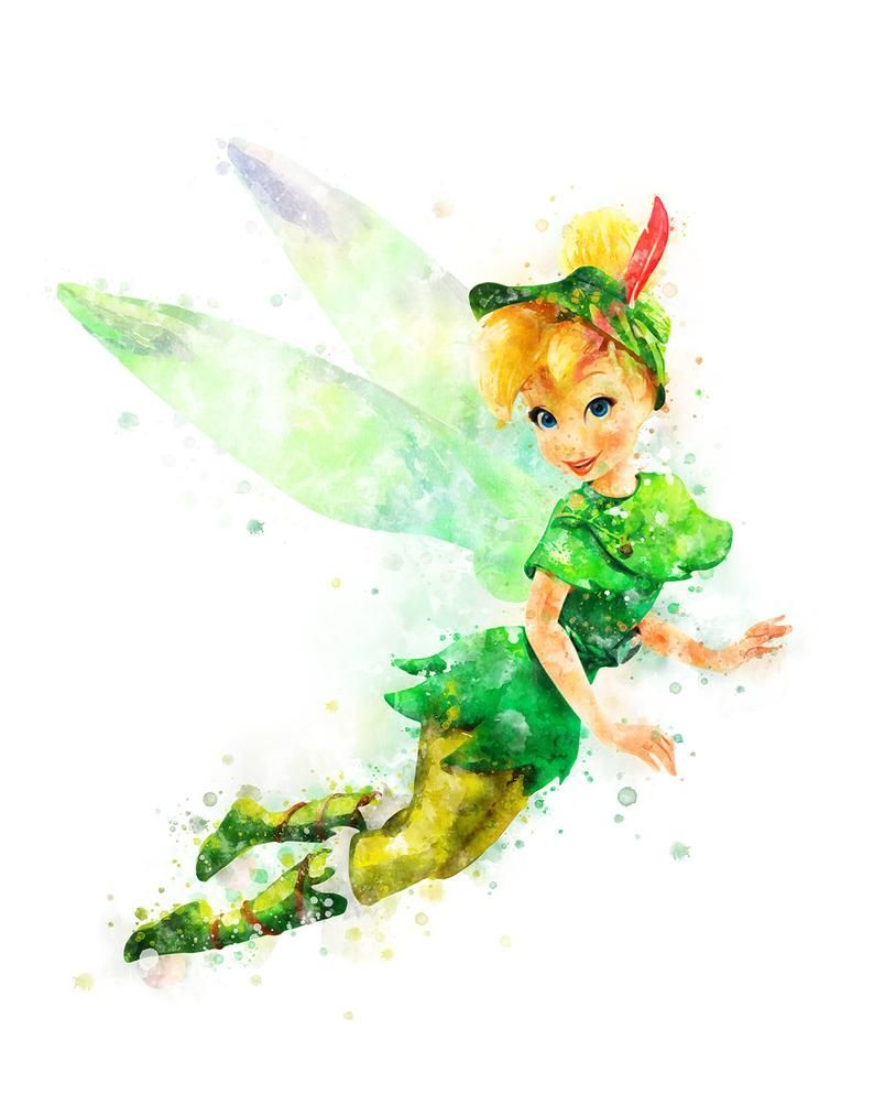 Tinker Bell Printable Colorful Painting At Etsy Download And