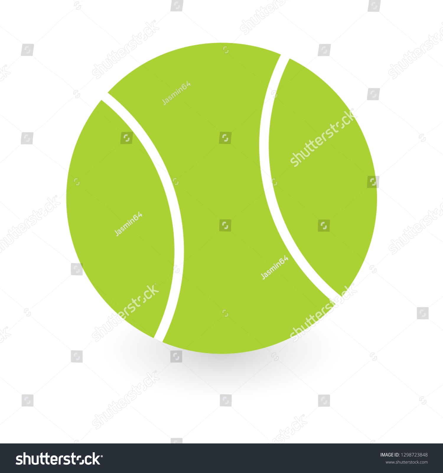 Tennis Ball Icon Flat Style Vector Ad Sponsored Icon Ball Tennis Vector Fashion Flats Tennis Ball Style