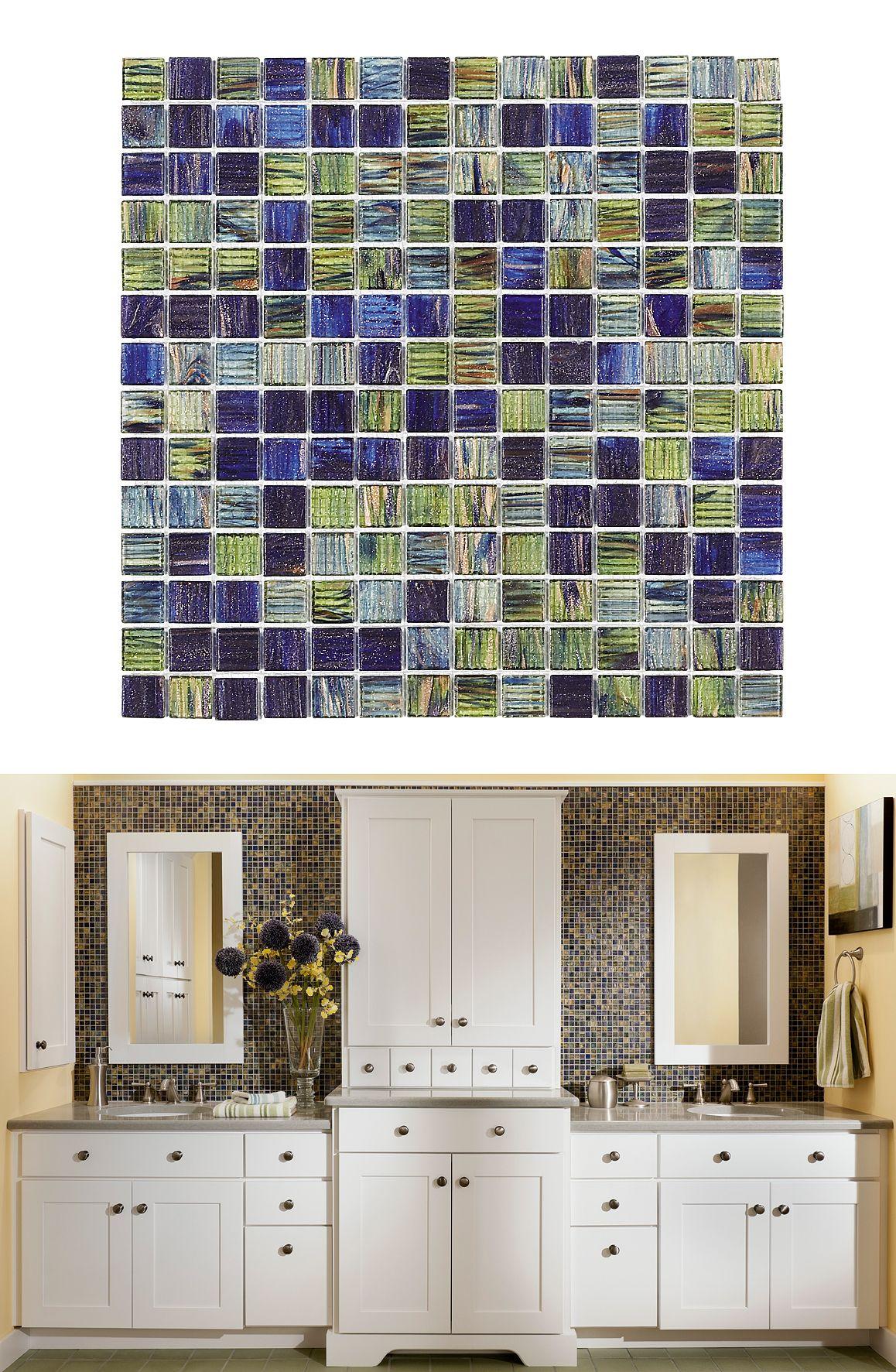 Jeffrey Court Vineyard 12 In X 12 In X 4 Mm Glass Mosaic