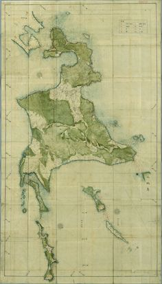 This map of Hokkaido was smuggled out of Japan by a German doctor during the Edo period.