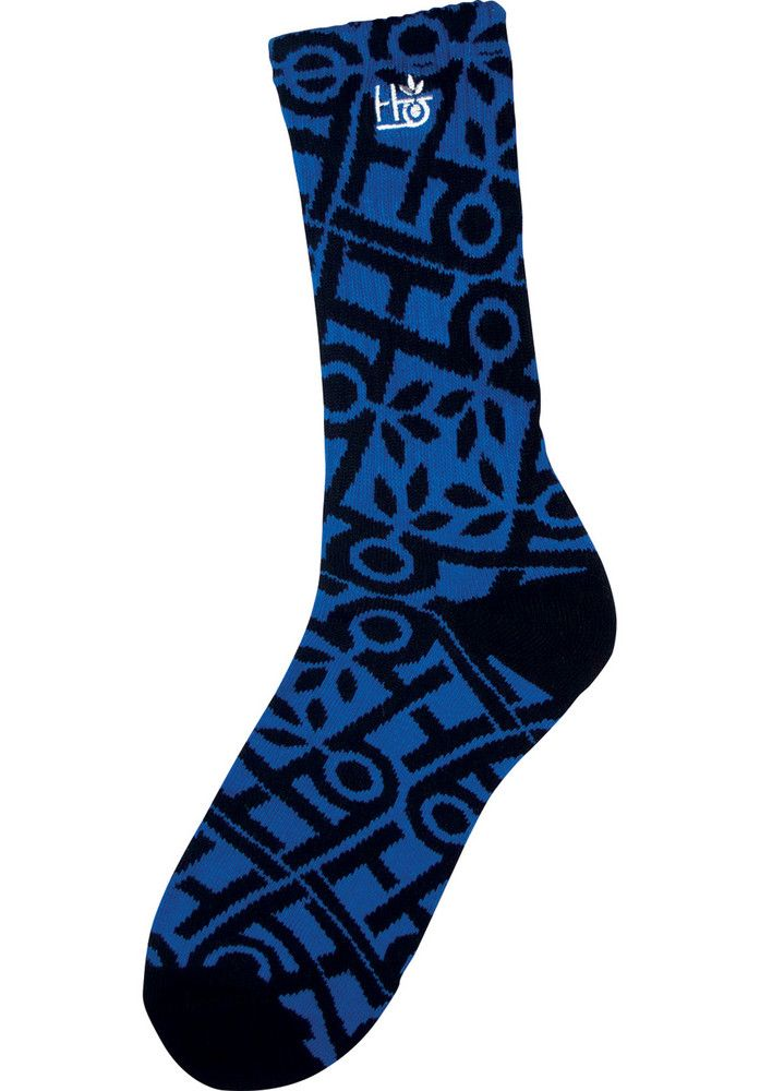 Habitat Pod-Pattern, Socks, blue-black Titus Titus Skateshop #Socks #MenClothing #titus #titusskateshop