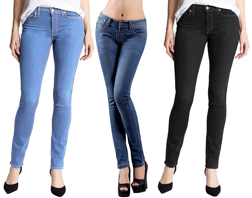 Details about Retro Fashion Women Casual Blue Jean Denim Long ...