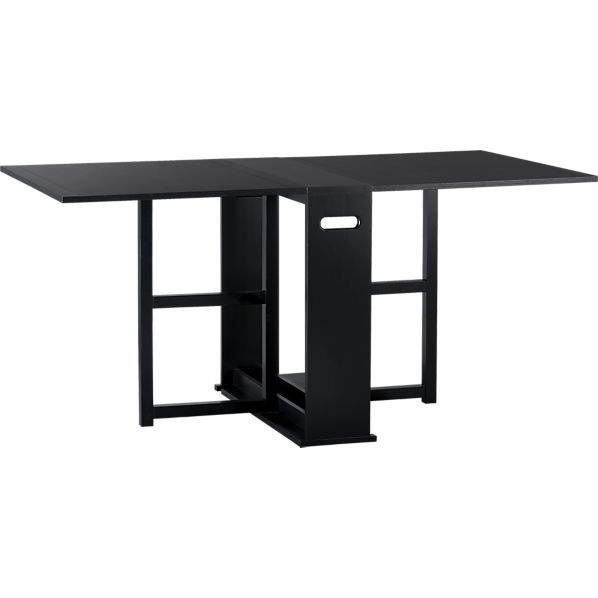 Span Black Gateleg Dining Table Crates Barrels And Tables