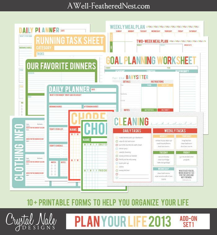 This is a photo of Clean Free Printable Forms for Organizing