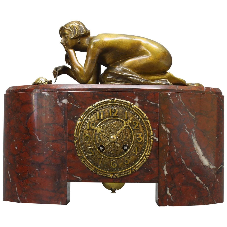 Antique art deco mantel clocks for sale