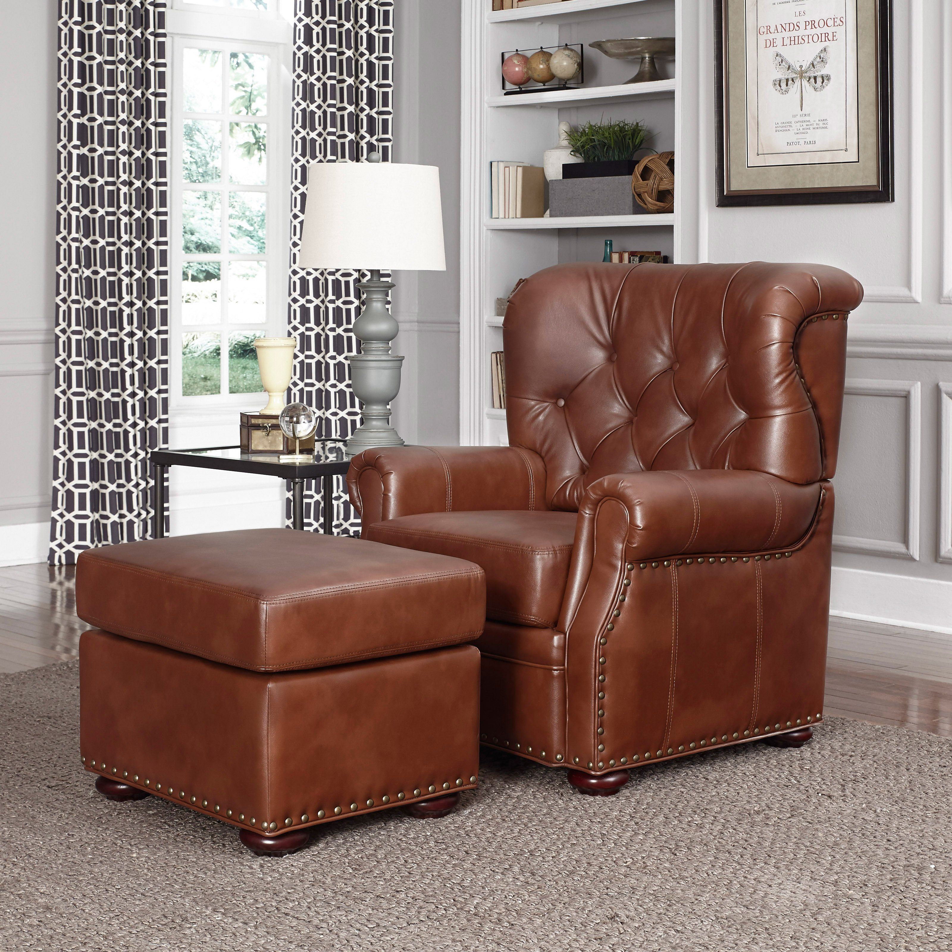 Home Styles Miles Stationary Club Chair with Optional