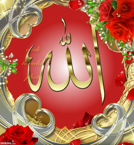 Golden Heart Red Roses Allah Laptop Wallpaper Allah Calligraphy