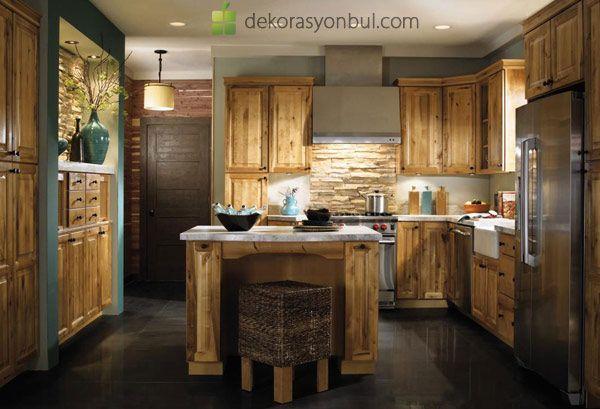 rustik mutfak modelleri mutfak Pinterest - k che im schrank