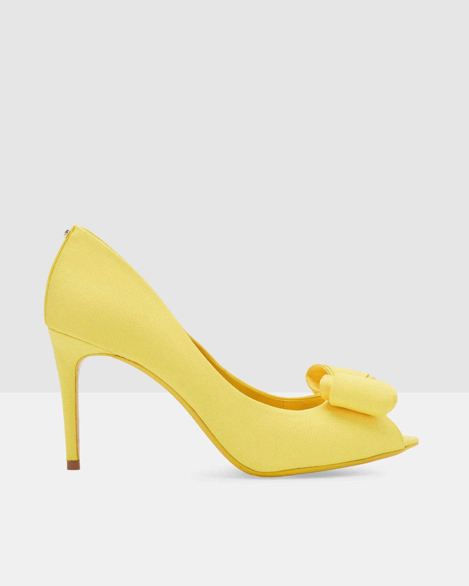 19e3d9050e4 Bow detail peep-toe courts - Yellow