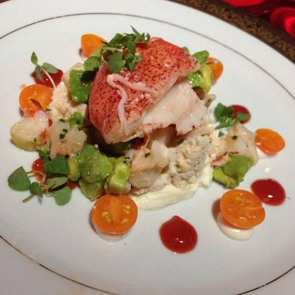 I don't know what it is, fish maybe, but it looks delish, AHS Freakshow Premiere**