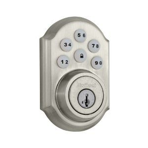 Kwikset Home Connect 910trl Zw 15 Smt Traditional Deadbolt With Z Wave Technology Satin Nickel By Kwikse Keyless Door Lock Electronic Deadbolt Electronic Lock