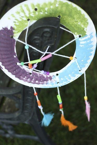 Paper Plate Dream Catcher Craft & Paper Plate Dream Catcher Craft   Dream catchers Catcher and Happy ...