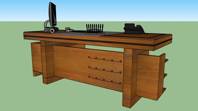 Executive Working Desk 3d Warehouse Desk Work Desk Ceo Office
