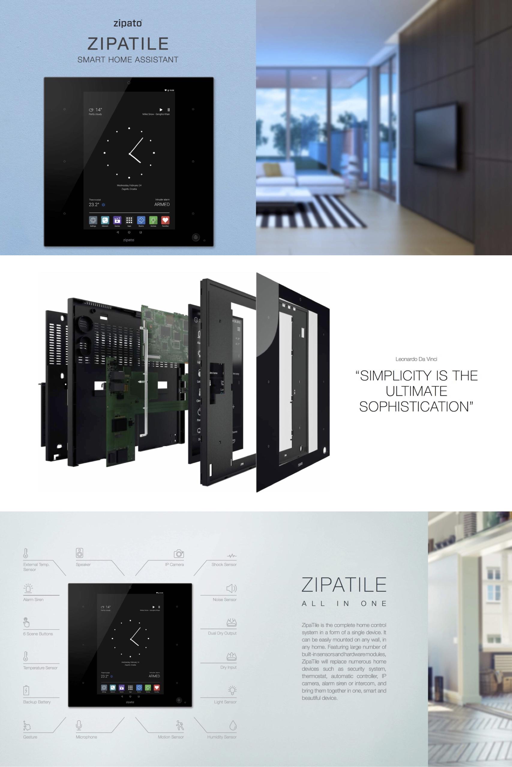 Dein Smartes Heim Mit Zipato Zipatile Intelligentes Haus Smart Home Zentrale Haus