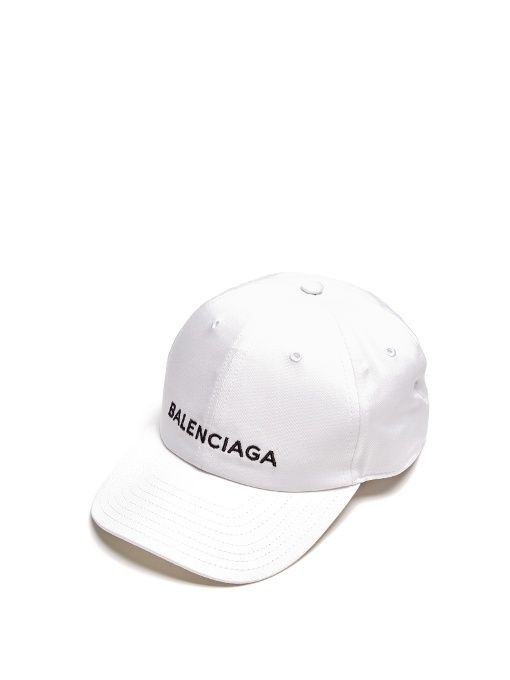 Balenciaga Logo-embroidered cotton cap  135ebd2a43c8