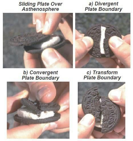 sj55:  Geologywith oreos!  I tried once to do this for a class of third graders, but they wouldnt stop eating the Oreos.