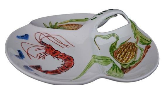 Prawn/Corn/Pineapple Tapas Dish from Burleigh ware #dishware Prawn/Corn/Pineapple Tapas Dish from Burleigh ware #dishware