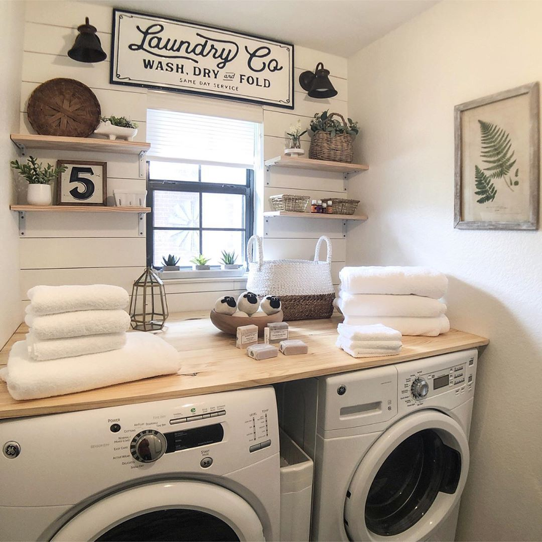 Good Morning I Love Having A Little Window In My Laundry Room To