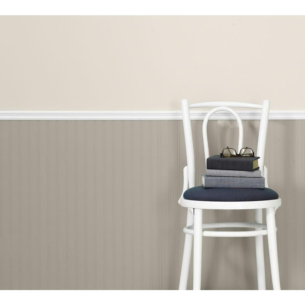 Graham & Brown White Beadboard Paintable Wallpaper 15274