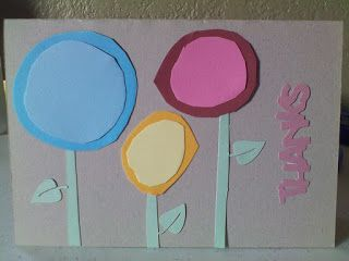 Colorful, Creative Cards: Flower thanks
