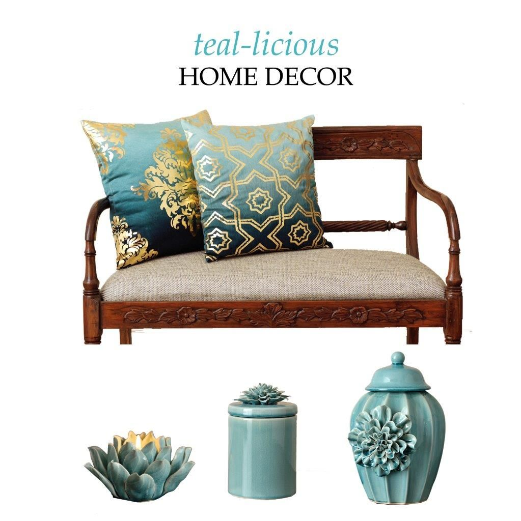Teal Is In Licious Home Décor Accessories By Elvy