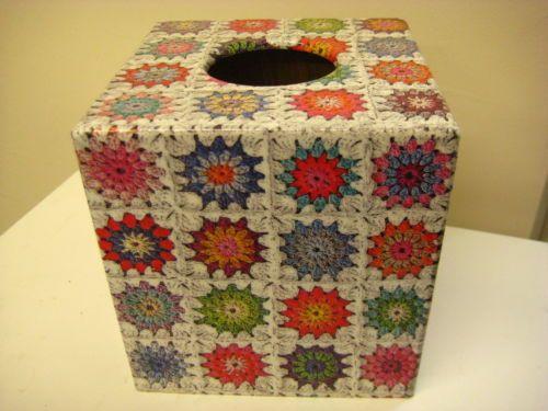 Stitch Of Love Free Pattern Crochet Catherine Wheel Tissue Box Cover : Granny Crochet Tissue Box Cover Holder Tissue box covers ...