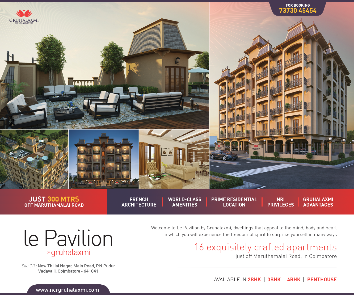 16 exquisitely crafted Apartments. Available 2BHK, 3BHK