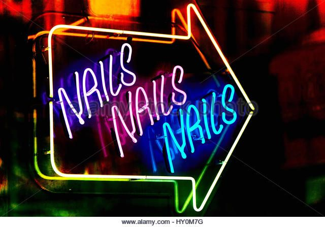 Nail Bar Sign Stock Photos Images