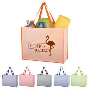 0b0e67c2b9 Matte Laminated Non-Woven Bahama Tote Bag Loving this design twist on a non-woven  tote. Perfect give-a-away or gift with purchase for retailers.