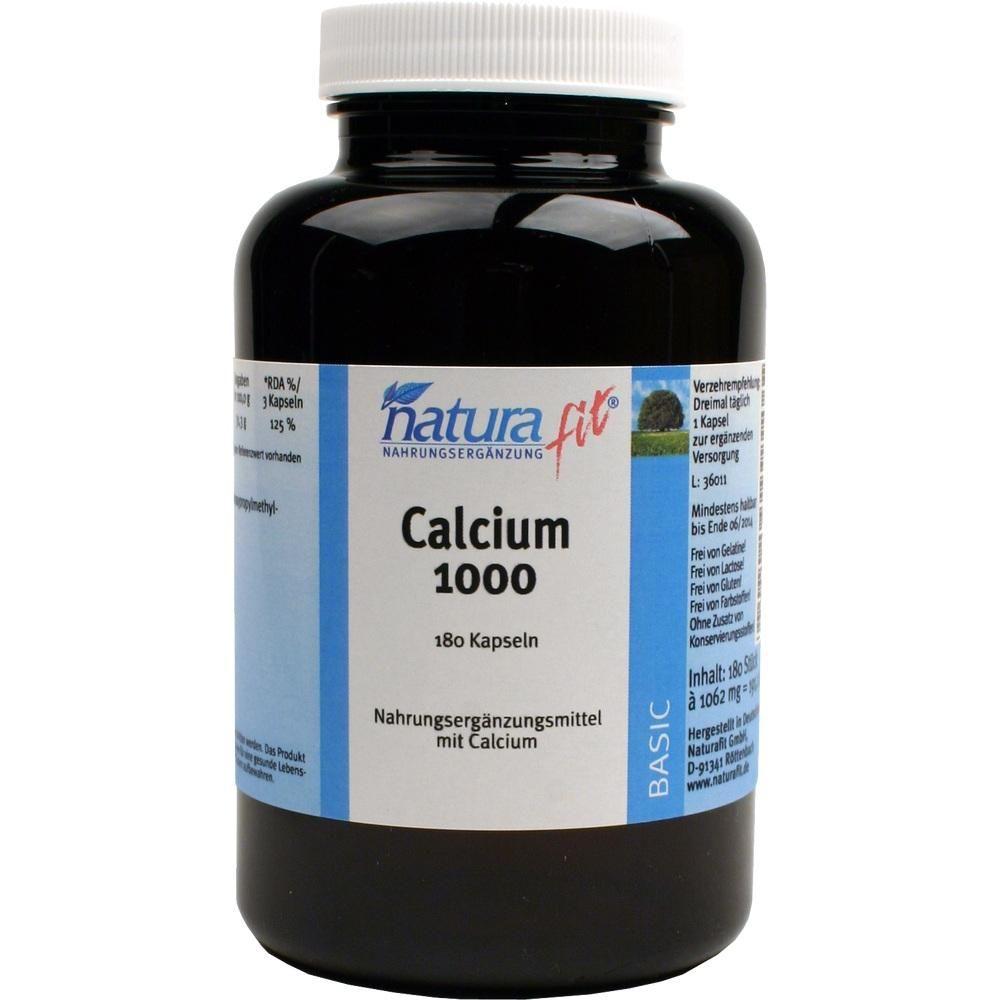 NATURAFIT Calcium 1.000 Kapseln:   Packungsinhalt: 180 St Kapseln PZN: 04538883 Hersteller: NaturaFit GmbH Preis: 8,92 EUR inkl. 7 %…
