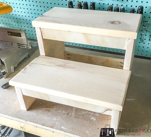 No Frills Workbench 4 Steps With Pictures: Kitchen Step Stool, Diy Stool, Ikea